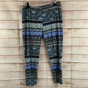 French Laundry Soft Cropped  Bohemian Leggings